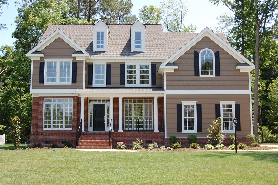New house financed by a mortgage