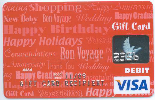 flexibility recipient can use the card anywhere visa - Buy Visa Gift Card With Credit Card
